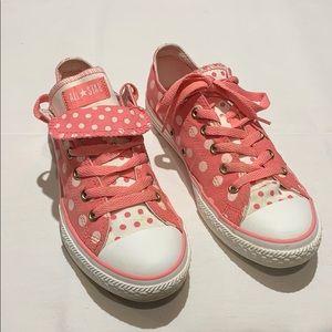Women's Converse All Stars Pink Polka Dots Size 7*